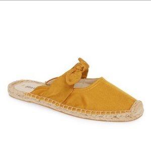 Soludos golden mustard yellow slip on espadrilles